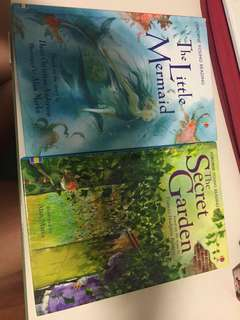 Usborne Young Reading: the Little Mermaid; The Secret Garden