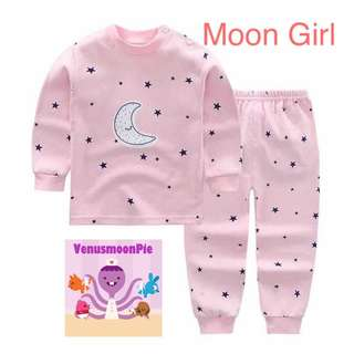 Good night girl long sleeve pajamas