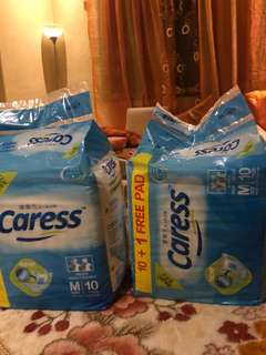 Caress adult diapers 10+1 pads per pack