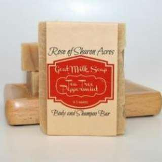Tea Tree Peppermint with Neem & Aloe Goat Milk  Soap (Made in USA)