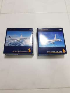 Singapore Airlines Model Planes