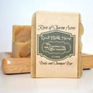 Rosemary Peppermint with Neem & Organic Aloe Goat Milk Soap (Made in USA)