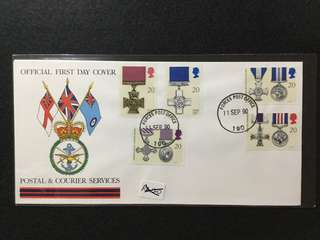 1990 British Forces Post Office Official First Day Cover Gallantry Awards Issue