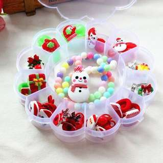 🚚 21-piece Christmas Theme Hair Accessories set/ Jewelry Gift Set for Baby Kids Children Girl A006