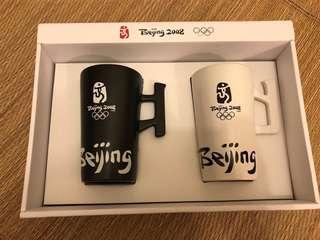 絕版北京2008年奧運會特許商品陶瓷對杯