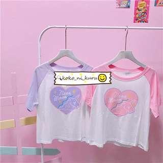 。Neon Moon 獨角獸🦄️短袖T恤。兩色