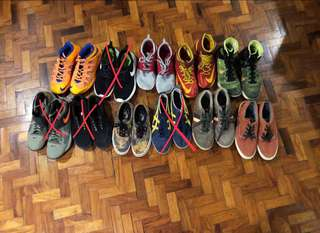 Auth Nike, Vans, Onitsuka, Fred Perry, Penguin Shoes