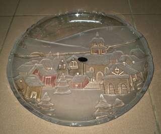 大型立體玻璃盤