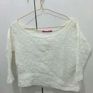 lace croptee