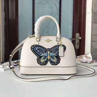 MINI SIERRA SATCHEL WITH BUTTERFLY EMBROIDERY