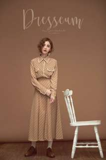 Dresseum 滴答襯衫xs+merlot 南瓜裙