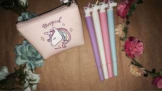 Unicorn Coinpurse w/ free unicorn ballpen