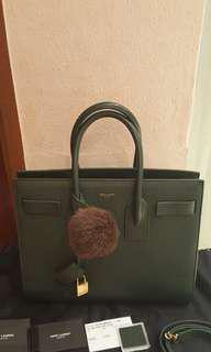 [RESERVED] SAC DE JOUR Forest Green (Small size with strap)