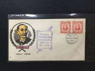 1959 Philippines Honouring Apolinario Mabini First Day Cover (Toned)