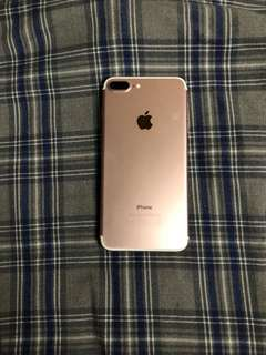 Iphone 7plus 128gb rose gold 玫瑰金 有網路鎖have sim lock 7 plus