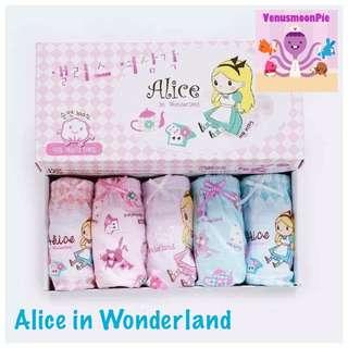 Alice in Wonderland girls panties