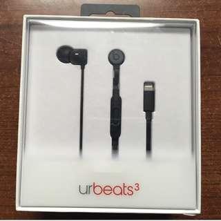 原廠 正品 Beats URBEATS 3.0 入耳式 魔音3 重低音2.0 麵條線控 Linghtning蘋果耳機