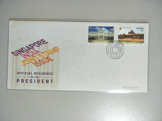 Singapore FDC Singapore-India joint issue