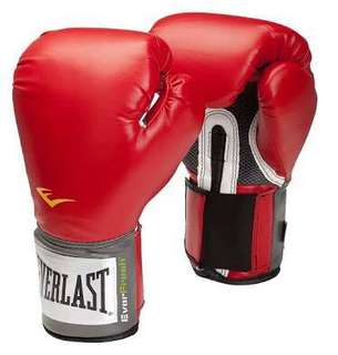 Everlast Pro Style Training Gloves - Red (12 Oz)