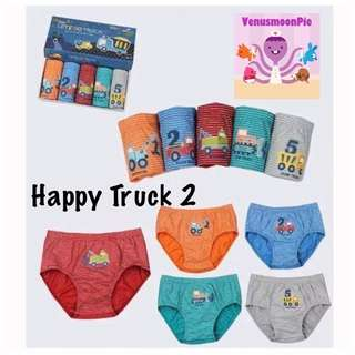 Happy truck kids underwear
