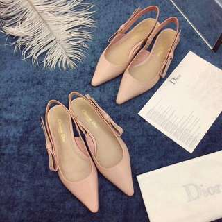 Christian Dior J'adior flats Leather Nude