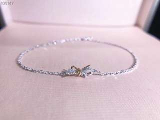 18K 金鑽石手鍊 white gold & rose gold diamond 💎 bracelet