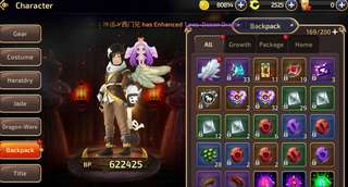 WTS DRAGONNEST M ABYSS WALKER 640K BP WITH S GRADE FAIRY AND SUMMER HOARI WING!