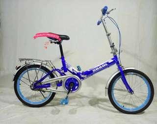 Blue 20 Inches Folding Mountain Bike