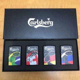 嘉士伯 Carlsberg 2018年 世界盃 防風 打火機 珍藏紀念品一套4個 box set