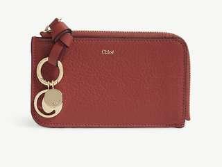 Chloe abc leather card holder 卡片套散紙包