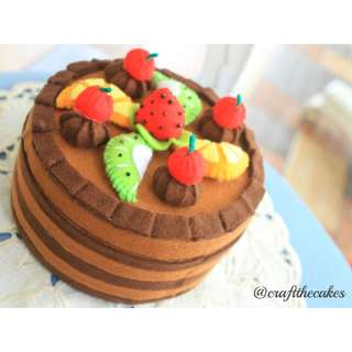 Handcrafted Double-Layer Chocolate Fruit Cake