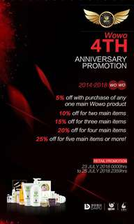 Limited promotion period ! Wowo official promotion