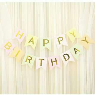 Colourful Happy Birthday Letter Banner