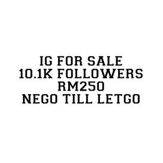 ACC IG 10.1K FOLLOWERS FOR SALE