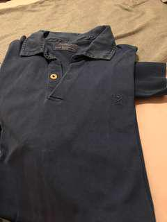 Hackett blue jersey polo long sleeve