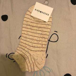 🚚 彩色點點條文杏色 襪子 韓國帶回🇰🇷