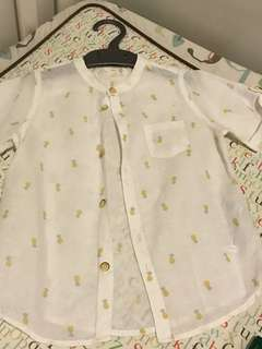 🚚 Zara shirt with pineapple prints