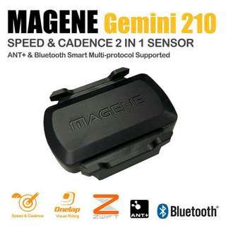 Magene gemini 210 速度& 踏頻 Speed & Cadence ANT+ Bluetooth sensor(Garmin、手機都用得)