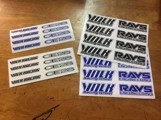 Sticker Rim TE37, CE28 Black / Blue