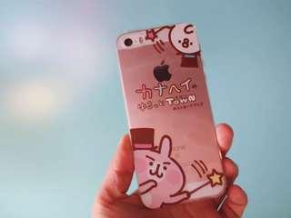 卡娜赫拉 手機殼 Kanahei 粉紅兔兔 禮物 p助 手機套 保護殼 iphone case 5s 6s 7 plus