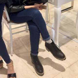 Korean semi boots with heels