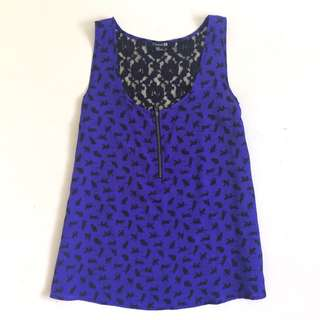 Forever 21 Cat Print Top for Women