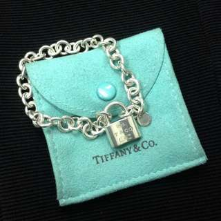 Authentic Tiffany & Co Sterling Silver 1837 Lock Bracelet