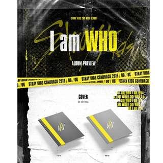 [PREORDER] 스트레이 키즈 (Stray Kids) - I am WHO (2ND Mini Album)