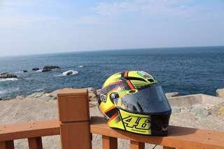 VR46 Rossi AGV Pista GP Soleluna Qatar 15  安全帽 碳纖維 卡達紀念版(公司貨)