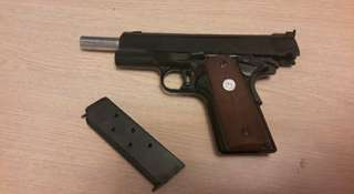 Airsoft M1911 MGC gold cup, Brand Marushin Shell injection