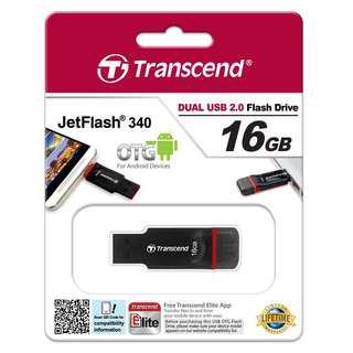 Transcend Jetfash 340 16GB OTG Flash Drive
