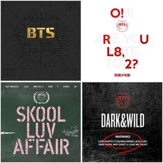 [Preorder]BTS 2 Cool 4 Skool, O!RUL8,2?, Skool Luv Affair, Dark&Wild Album