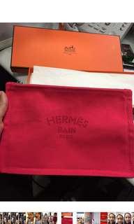 Hermes makeup bag