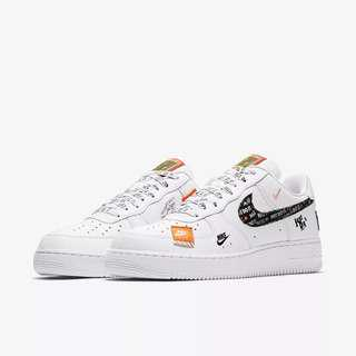 Instock US 7 Nike Air Force 07 JDI Just Do It White